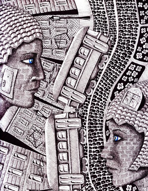 Surreal drawings by Vitaliy