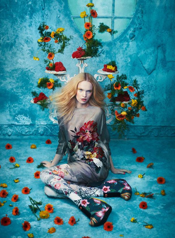 Tutte in fiore - Glamour Italia, project by Sandrine Dulermo and Michael Labica