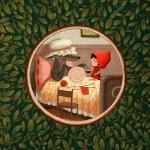 Little red hood – Le Petit Chaperon rouge, illustration by Emilia Dziubak