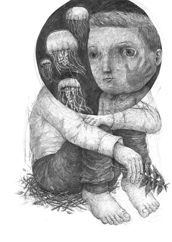 Stefan Zsaitsits, drawings