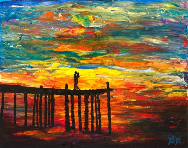 Stunning vivid, dynamic paintings by John Bramblitt, blind artist