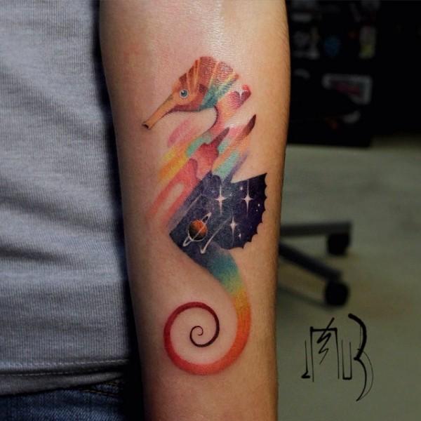 Pixel & Glitch, eye-catching tattoos by Lesha Lauz