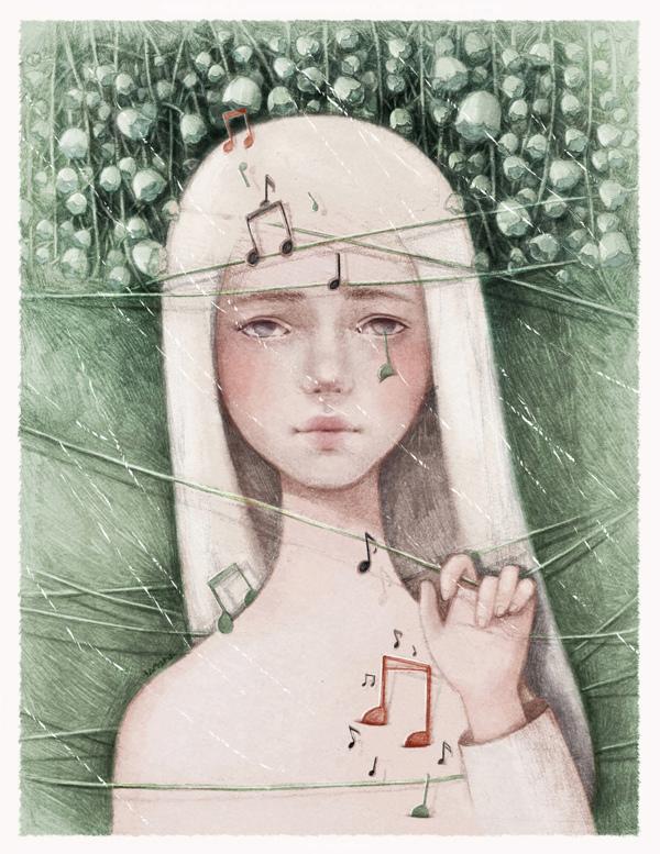 Solitude, illustration by Thai My Phuong aka T A M Y P U