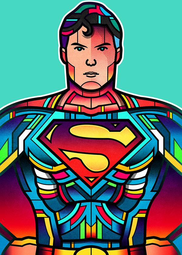 Superheroes WonderCon 2015 by Van Orton Design