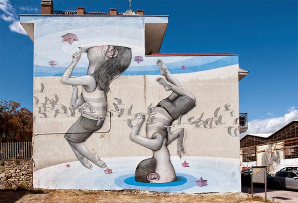 Vibrant murals of people by Seth Globepainter