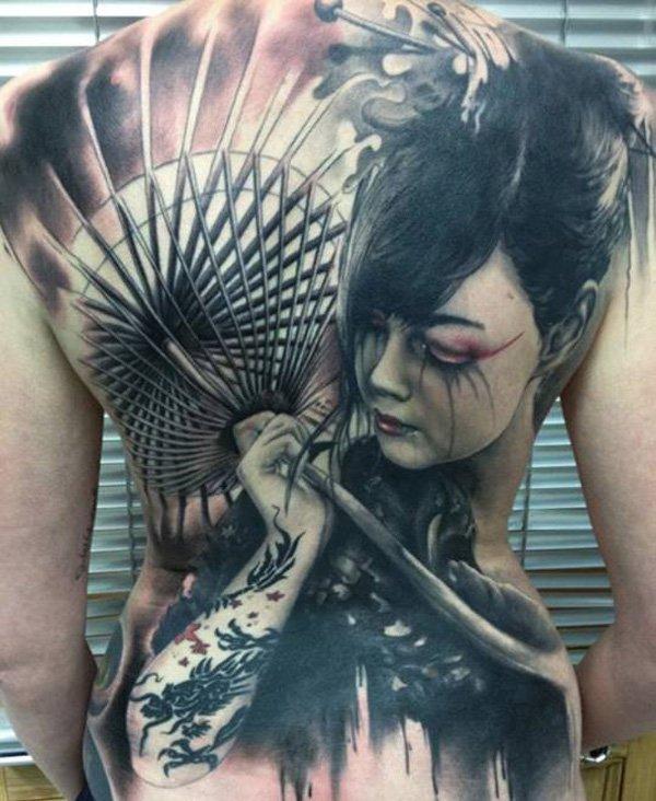 Beautiful geisha tattoos