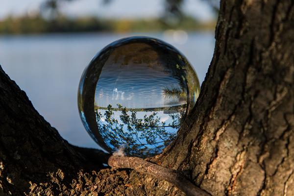 Crystal ball, digital photography by Lothar Malm