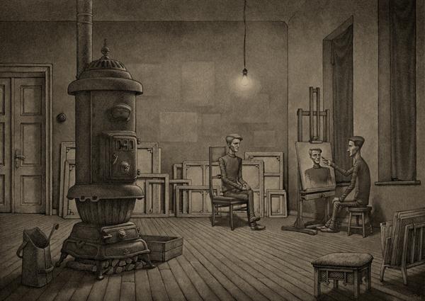 Ghost, digital art by Penko Gelev