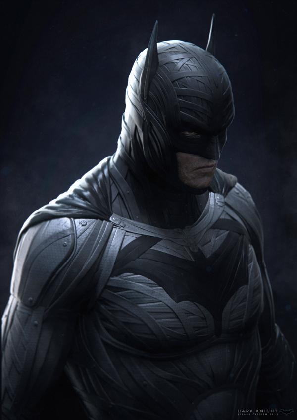 The Dark Knight, digital art by Riyahd Cassiem