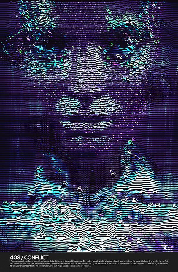 Client Error 4xx, digital art by RETOKA _ BCN