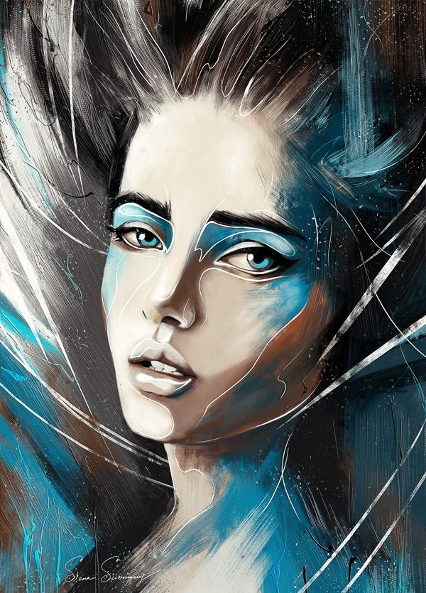 Digital portrait by Siena Summers