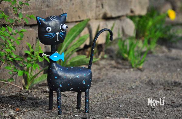 Black cat, toy design by Lidiya Marinchuk