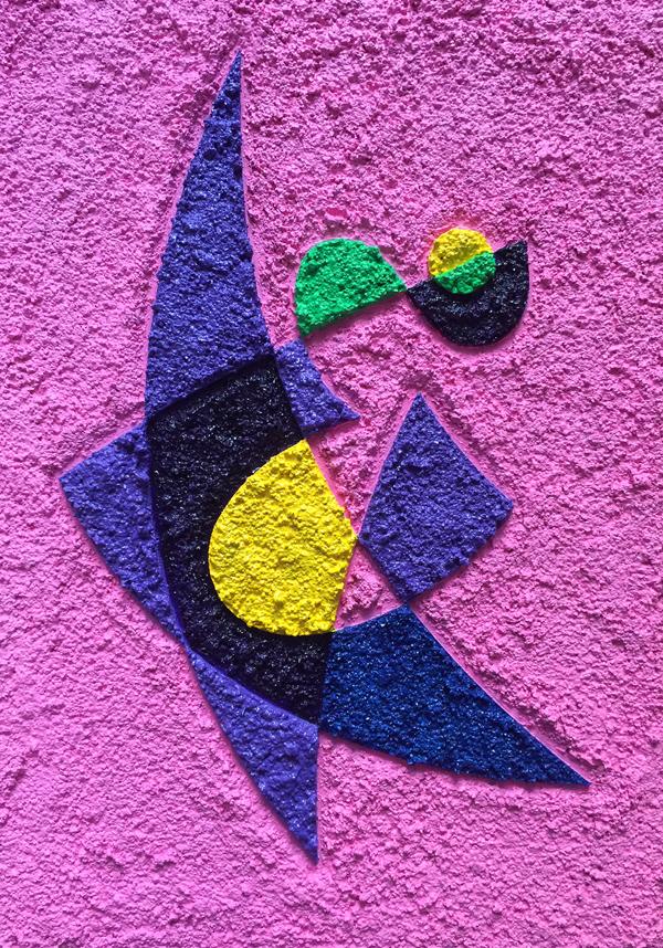 Walking on the walls, painting by Bilgin Bulut