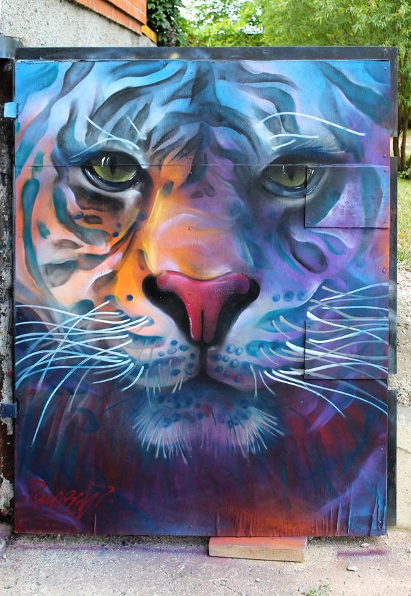 Character, street art by Sergey Akramov