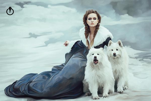 Winter, digital art by Victoria Pavlov