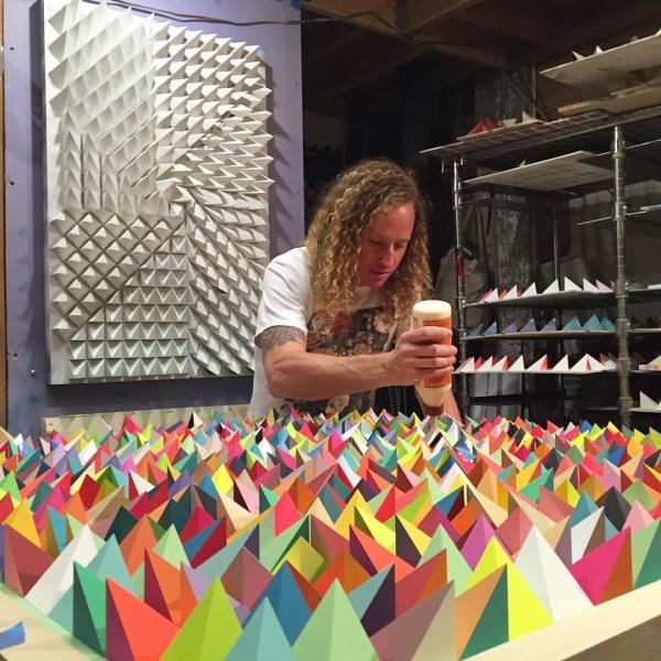 Mesmerizing display of geometric design, sculptures by Sean Newport