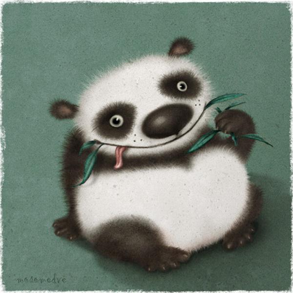 Different animals, illustration by Oxana Mosalova