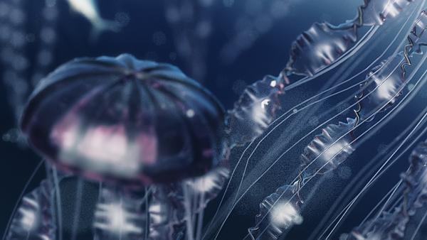 Jellyfish Tutorial - 3D CGI by Víctor Navarro