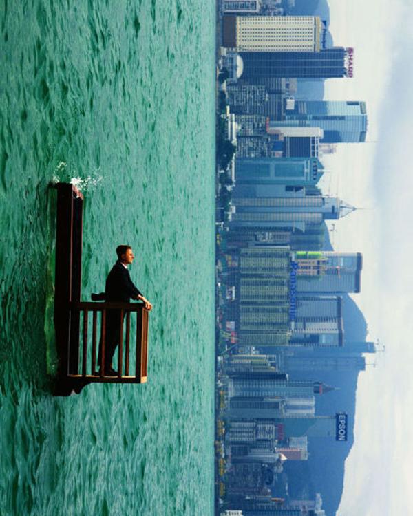Artist Philippe Ramette: An upside down world