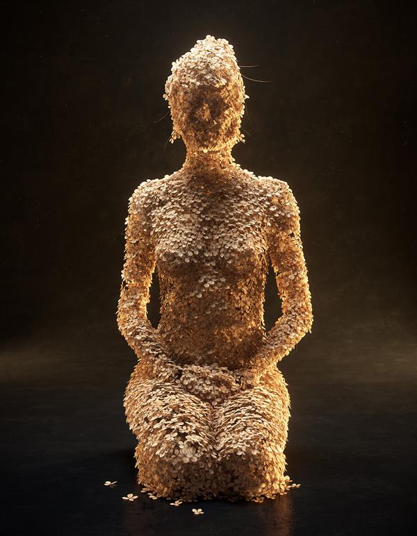 Flower Figures, digital art by Jean-Michel Bihorel