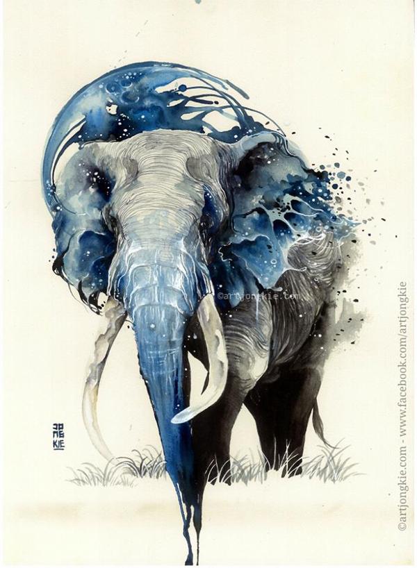 watercolor paintings by luqman reza ego alterego