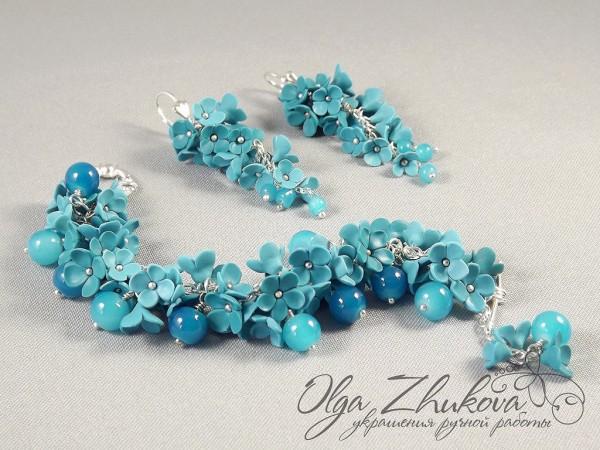 Jewelry handmade from polymer clay by Olga Zhukova