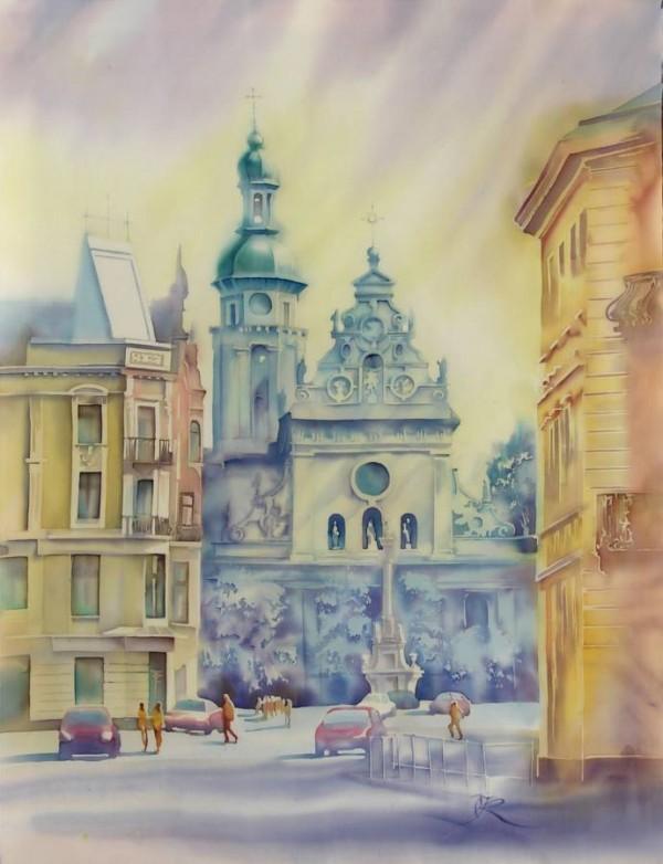 Silk painting by Olena Korolyuk