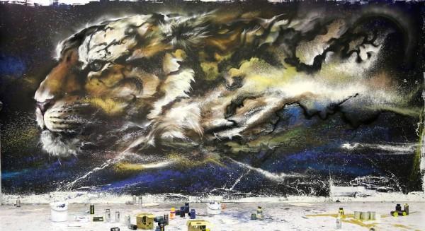 Splattered-ink paintings by Chen Yingjie aka Hua Tunan