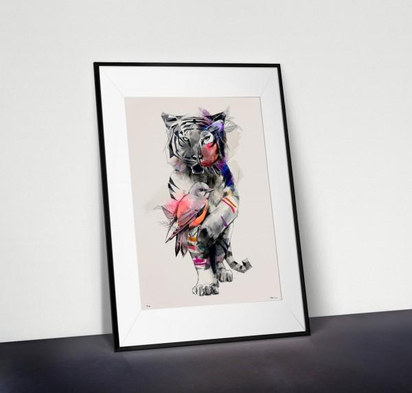 Tigers Eye - Drawing by Birgit Palma