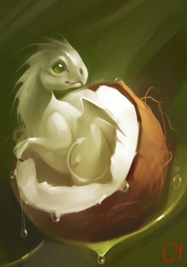 Fruit Dragons, illustration by Alexandra Khitrova