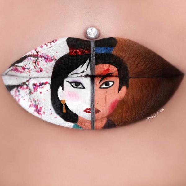 Jazmina Daniel, amazing lip art
