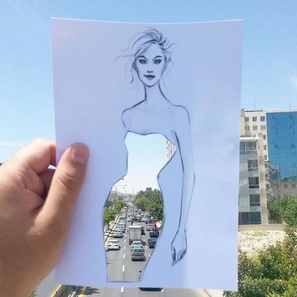 Fantastically creative fashion illustrations by Shamekh Bluwi