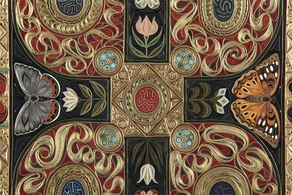 Jardine and Gospel, quilled paper artworks by Lisa Nilsson