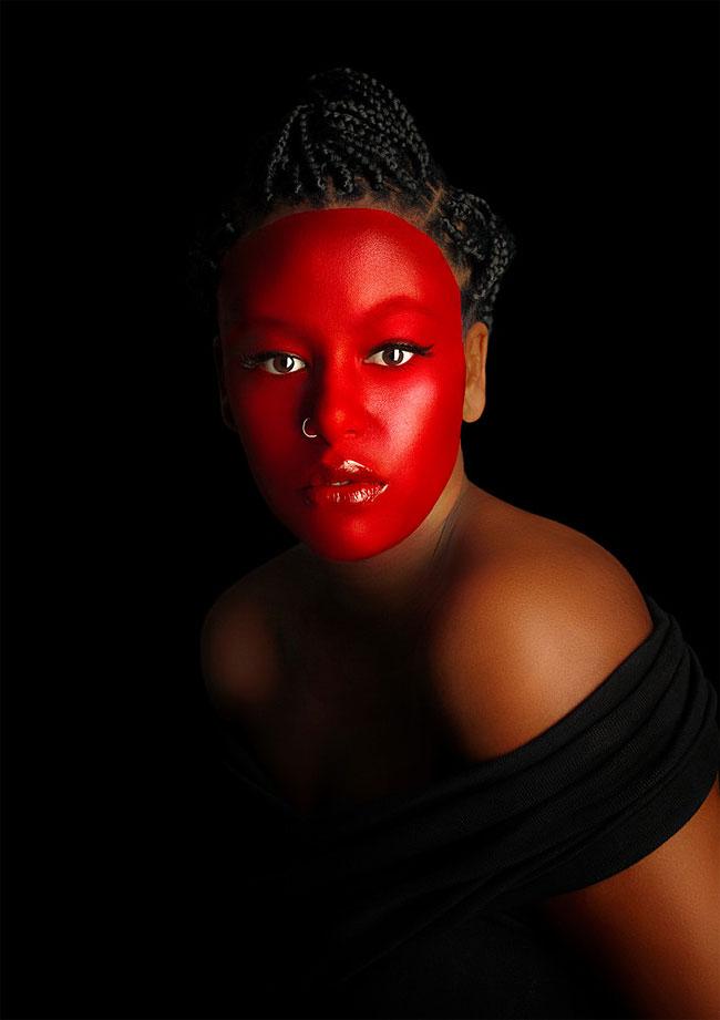 Stylised photo portraits of Australian women of colour