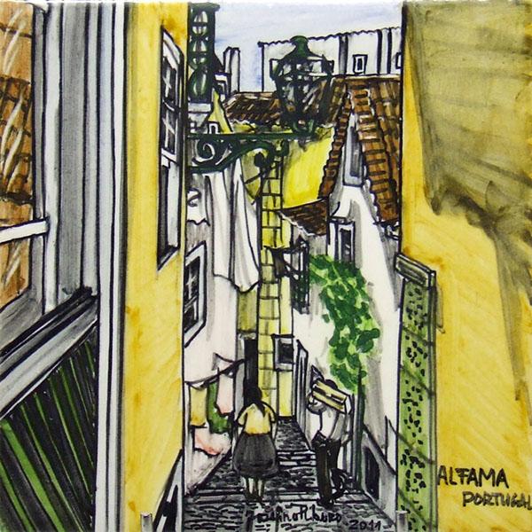 Alfamas, painting by Josefina Ribeiro