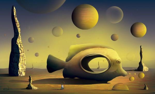 Marcel Caram, digital paintings inspired by Salvador Dalí