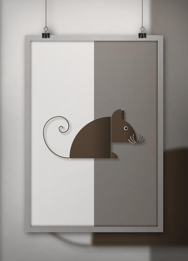 Minimalist Animals - Golden Ratio by Helvetiphant™