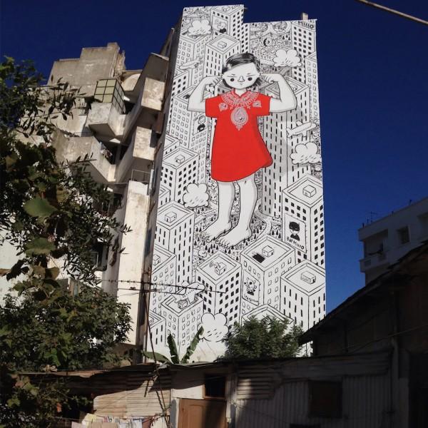 Street art by Francesco Camillo Giogino aka Millo