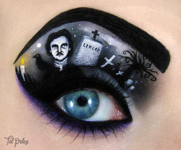 Halloween Make Up, eye-art by Tal Peleg