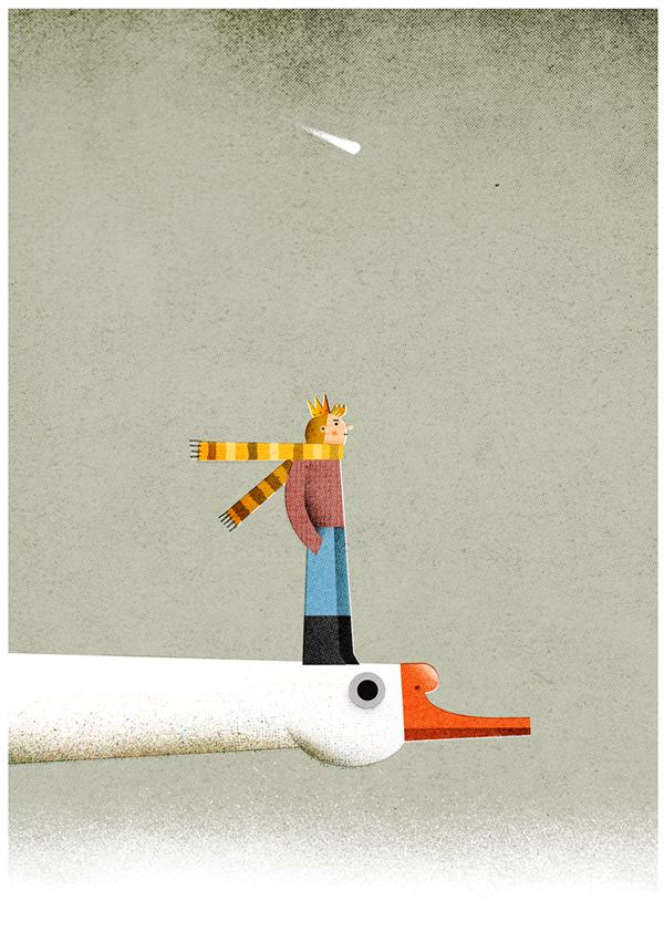 "Philip Giordano, illustration for ""Le Petit Prince"""
