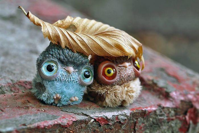 Super cute and creepy dolls by Oso Polar