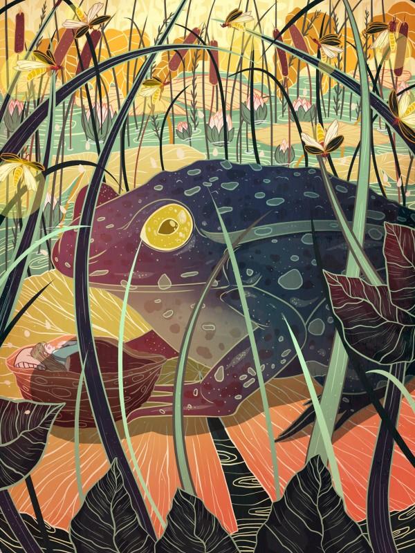 Thumbelina, illustration by Kailey Whitman