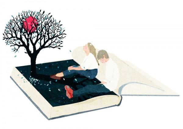Moon book, illustration by Xuan loc Xuan