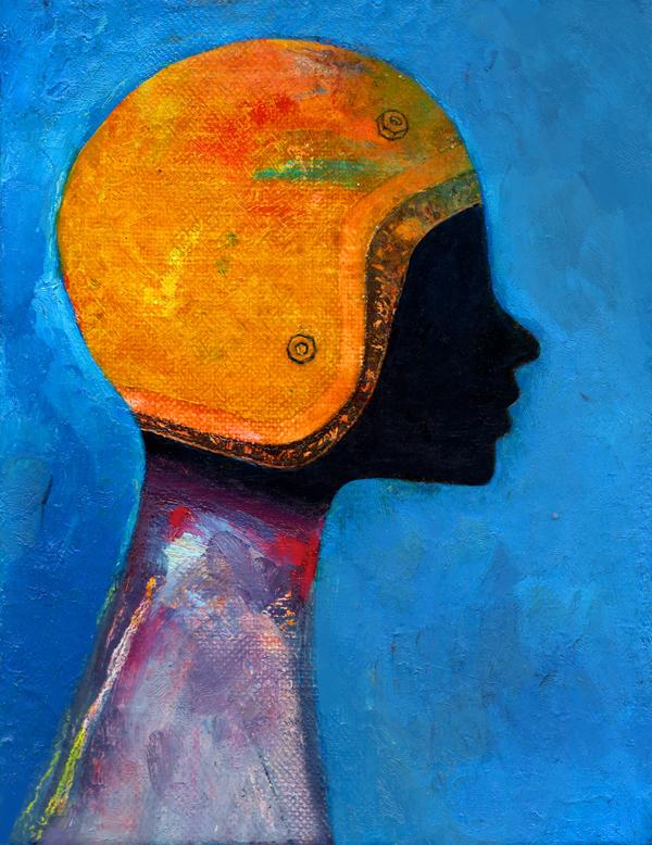 Blind, oil painting by Kasi Minami