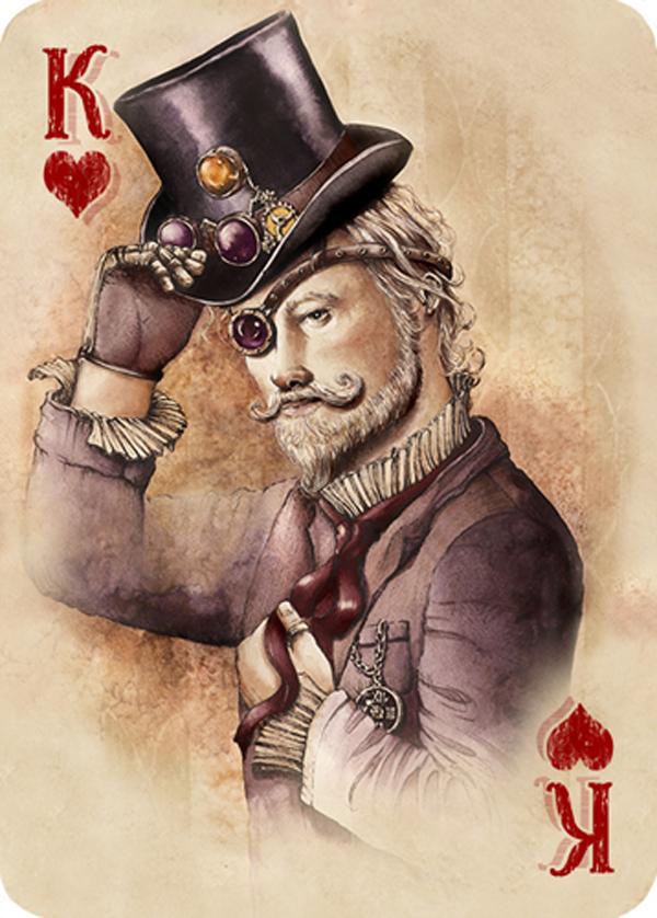 Elwira Pawlikowska: handmade illustrations for Steampunk Playing Cards