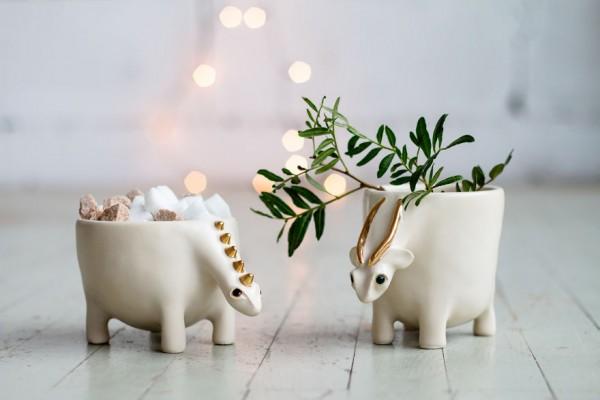 Magical ceramic animals by PhoCeramics