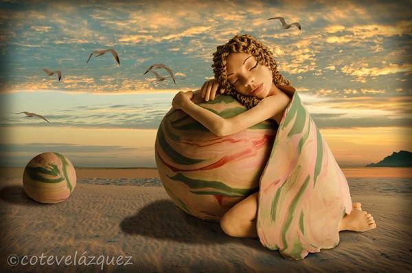 Fantastic worlds created by Coté Velázquez