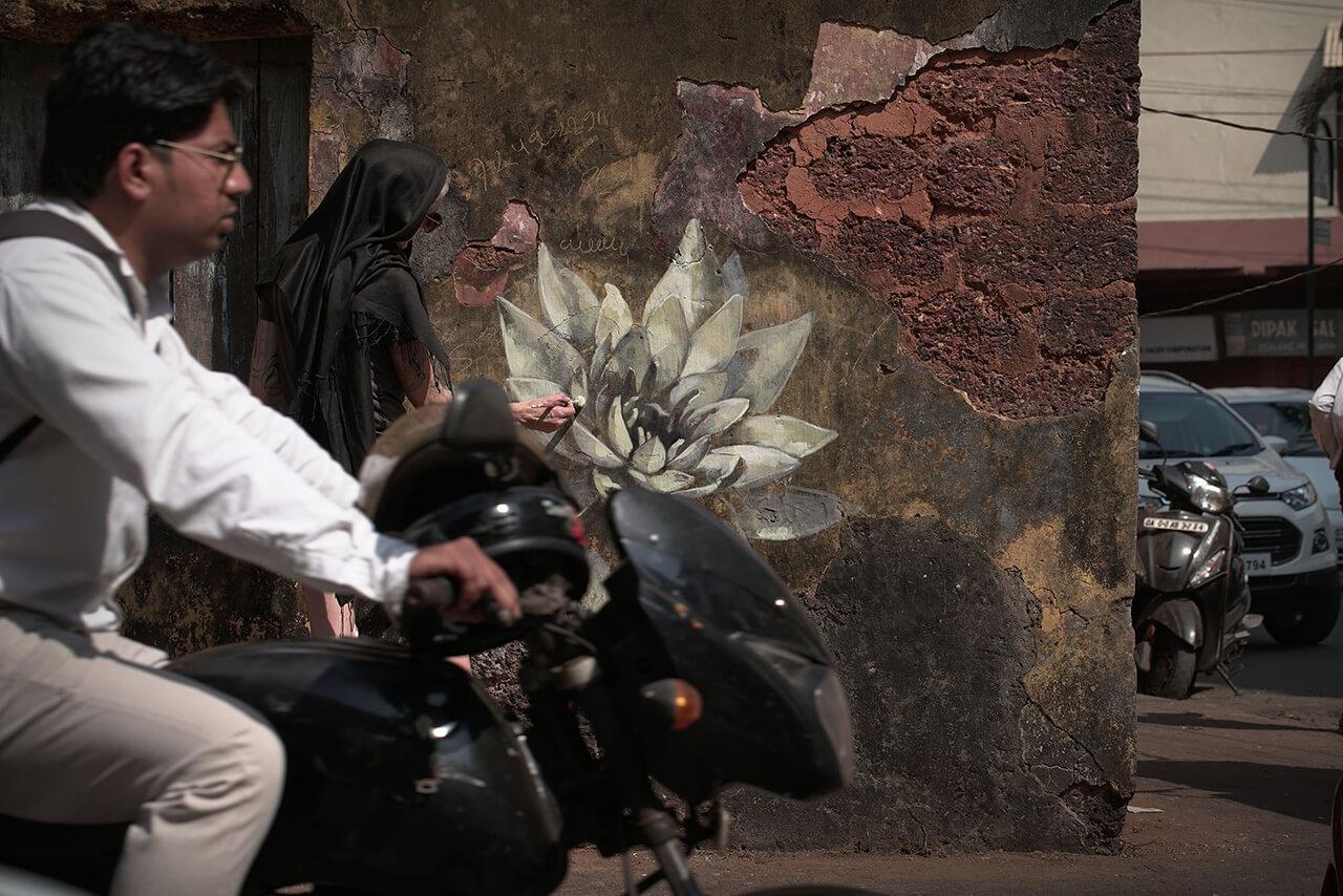Le Petit Morte, Goa, 2016 - street art by Faith47