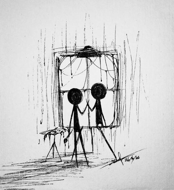 Stickmen's Series, drawings by Riftress