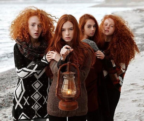 Beautiful redhead portraits By Vitaliy Zubchevskiy